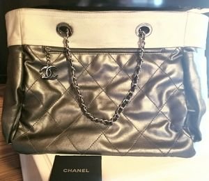 Chanel Ivory & Bronze Tote